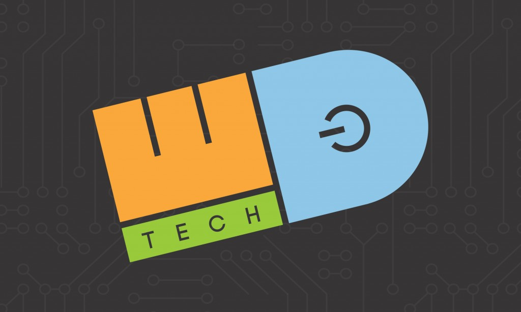 WD Tech logo with circuit background